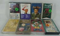 Lot of 8 Christmas Compilation Audio Cassette Tapes Sinatra Crosby Disney C Pics