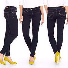 New Levi's 524 Women's Skinny Low Rise Jeans Stretch Denim Pants Blue Mine 1M