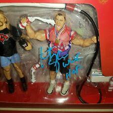 Milk-o-Mania Playset Signed by Kurt Angle  - New - WWE Mattel Wrestling Figures