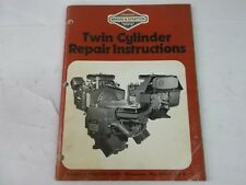 Briggs & Stratton twin cylinder repair instructions