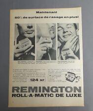 PUB PUBLICITE ANCIENNE ADVERT CLIPPING 190817 / RASOIR ELECTRIQUE REMINGTON ROLL
