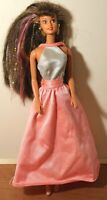 Mattel Barbie Doll With Pink and Silver Dress
