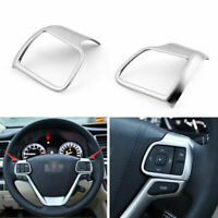 Chrome Volant Couverture Trim 2pcs Pour Toyota Highlander 2015 2016 A
