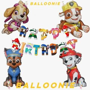Large Paw Patrol Chase Marshall Rubble Skye Party Foil Birthday Balloons