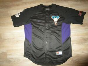 Shawn Green #15 Arizona Diamondbacks Nike Black MLB Jersey LG L mens