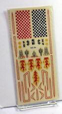 Acme & IMPKO Vintage Decals~Flames,Art Flourish Striping,Checkerboards~Slot Cars