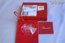 BACCARAT Crystal Snowflake Ornament Numbered UNICEF Rare Christmas Boxed Retired