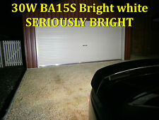 2 x BA15S 30W 1156 Cree Led Seriously Bright White Reverse Lights