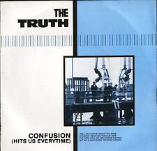 """THE TRUTH confusion (hits us everytime)/me and my girl TRUTH 1 1983 7"""" PS EX/VG+"""