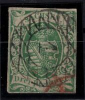 T4275/ GERMANY – SAXONY – MI # 2 II b USED SIGNED PRÖSCHOLD – CV 185 $