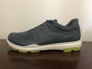 ECCO Men's Golf BIOM Hybrid 3 Shoes Gore-Tex GTX Size 9-9.5 (EU 43) Blue/Kiwi