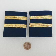 Vintage  uniform accessories Navy blue with gold braid possibly epaulettes