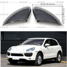 Real Carbon Fiber Door Side Mirror Cover Add On For Porsche Cayenne 958 11-14