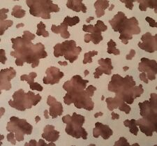 """1 yd 29"""" Cow Hide Print Faye Burgos for Marcus Brothers Brown Light Tan Cowhide"""