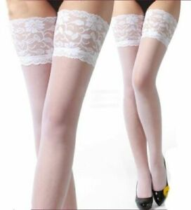 Women Sexy Thigh High STOCKINGS OPAQUE OVER-THE-KNEE STRETCH LACE Hosiery