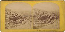 Siloam Jerusalem Palestine Israël Photo Stereo Vintage Albumine ca 1865