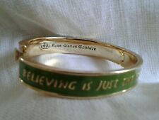 Love Disney Couture Gold Bangle 'Believing is just the beginning' Tinkerbell