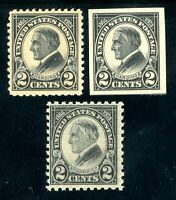 USAstamps Unused FVF US 1923 Harding Set Scott 611, 612 OG MNH, 610 MLH