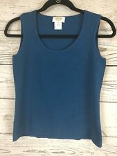 03ff3a2293488f Talbots Top Size PS Blue Shell Tank Cami Sleeveless Scoop Neck