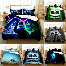 Dj Marshmello Quilt Cover Bedding Set 3Pcs 3D Print Duvet Cover Pillowcase