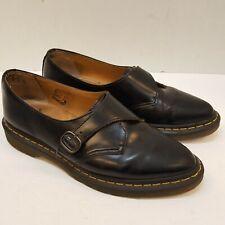 DR. MARTENS AGNES Black Pointed Toe Nana Leather Monk Loafer Shoes US 11 L 43 EU
