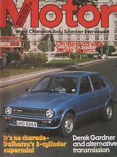 Motor magazine 29/9/1979 featuring Daihatsu Charade road test