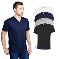 Uneek Mens Classic V Neck T Shirt 100% Cotton Tee 180 GSM (UC317)