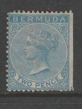 1866 BERMUDA 2d Dull Blue Sg 3 Unused CV £475