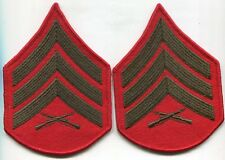 US Marine Corps USMC Sergeant Chevron Stripes Pair Male