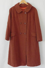 Vtg Wool Coat Terracotta Double Breasted Size XL