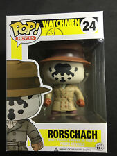 Funko POP Watchmen Rorschach #24 RARE Vaulted Figure Box Damage