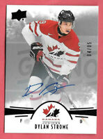 2016-17 Dylan Strome Upper Deck Team Canada Juniors Black Auto 04/05 - Chicago