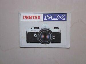 Asahi Pentax MX SLR Camera Instruction Manual Hand Book Catalog