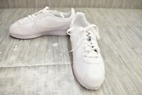 Nike Classic Cortez Leather 807471-102 Athletic Shoes, Women's Size 9.5, White