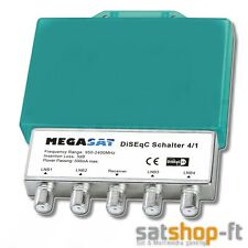 Megasat DiSEqC interruptor 4 en 1 conmutador 4 LNB satélites HDTV 3d Full HD 4k
