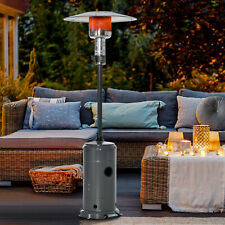 More details for 12.5kw outdoor gas patio heater standing propane heater w/ wheels dust cover
