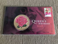 New Mint Queen Elizabeth Queens Birthday 2018  Medallion Cover Limited to 3000