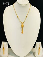 indian gold plated necklace set with earring costume jewellery chain mala women
