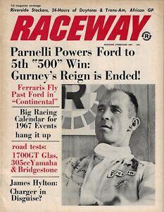 Raceway magazine  January 1967  Riverside, Daytona, Grand Prix, Can-Am, Trans-Am