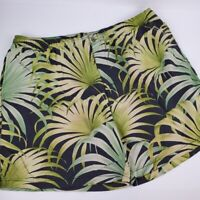 Tommy Bahama Mens size XL green and dark grey tropical leaf print swim trunks