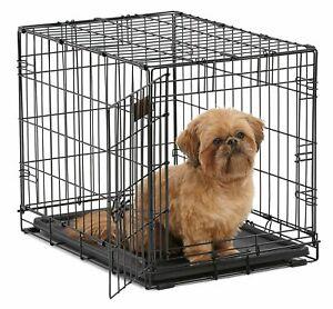 """NEW Jaulas Para Perros y Gatos Caja De Metal 22 """".x-Small Con Dividor Dobla"""