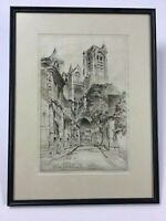 John Taylor Arms Etching The Cathedral Of St. Étienne 1926