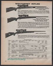 1984 WEATHERBY Varmintmaster, Mark V Deluxe and Custom Rifle AD