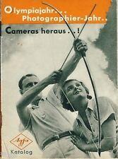 Olympiajahr Photographier Jahr Cameras heraus Agfa Katalog Kamera 1936
