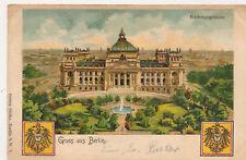 AK Gruss aus Berlin, Reichstagsgebäude, 1899(K) 19805