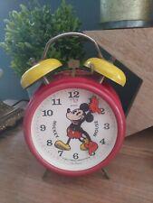 More details for vintage disney mickey mouse mechanical wind up alarm clock, bradley.