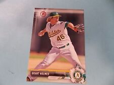 GRANT HOLMES 2017 Bowman RC ** ROOKIE CARD ** A'S  BP45 Midland RockHounds