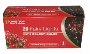 20 MULTI COLOUR  FAIRY LIGHTS  CHRISTMAS DECORATION TREE PARTY