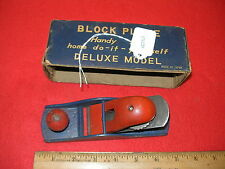 Vintage Made in Japan Deluxe Model Block Plane Red Blue No. 421 in Box