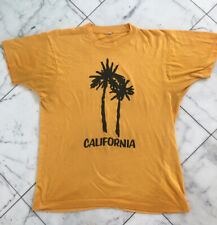 New listing Vintage Gold California Palm Tree Single Stitch T Shirt Med